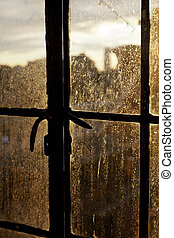 Afternoon Sun Back Lighting Stained Window