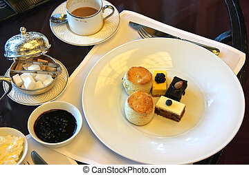 Afternoon tea - Classic british afternoon tea with scones...