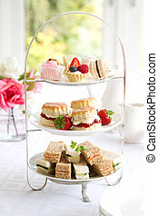 Afternoon tea - Traditional afternoon tea served with scones