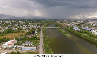 Afternoon Thunderstorm Missoula Montana Clark Fork River...