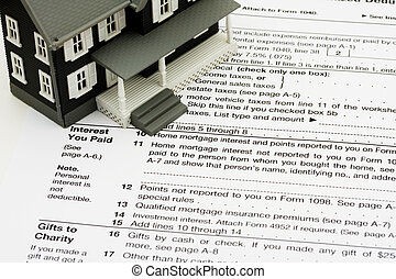 aftrekken, hypotheek, belangstelling, op, belastingen