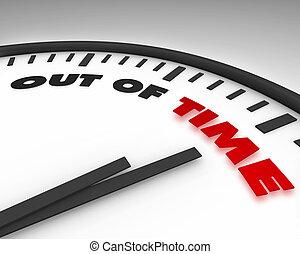 afuera, reloj, -, tiempo