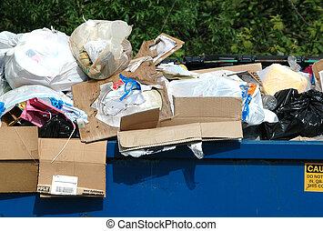 afval, en, restafval