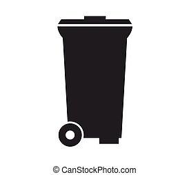 afval, restafval, pictogram