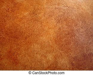 afwerking, leder, wall., achtergrond, faux, rood