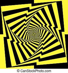 afwisselen, gele, black , perspectief, oneindig, trap, spyral
