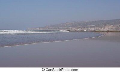 agadir city morocco beach and ocean landscape panorama
