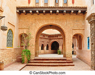 agadir medina archway - agadir city morocco medina landmark...