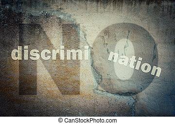 agains, discrimination, arrêt, minorités