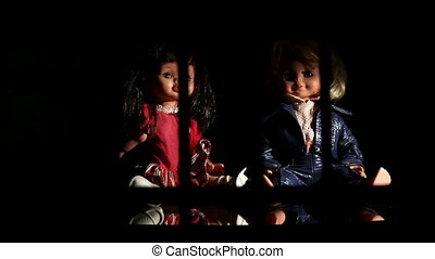Against child trafficking. Appeal campaign, dolls (children)...