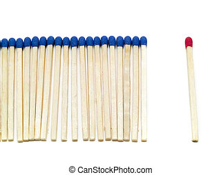 Against the Croud! - One different match stick