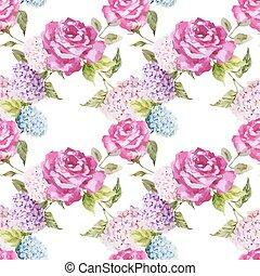 agancsrózsák, hortenzia