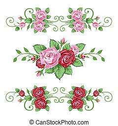 agancsrózsák, szalagcímek, gyűjtés