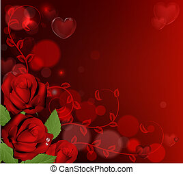 agancsrózsák, valentines nap, háttér, piros