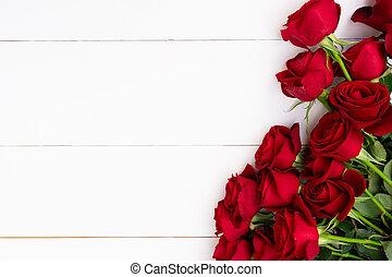 agancsrózsák, white piros, háttér