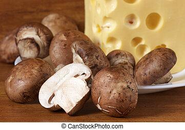 Agarics and cheese
