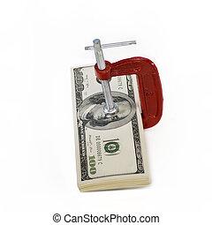 agarre, dinero, vicio