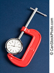 agarre, tornillo, reloj