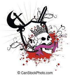 agasalho, heraldic, braços, skull9