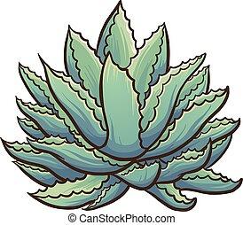 Agave plant - Cartoon agave plant. Vector clip art ...