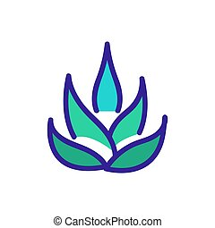 agave plant icon vector outline illustration - agave plant ...