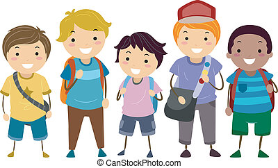 Age Diversity Boys - Illustration Featuring a Group of Boys...