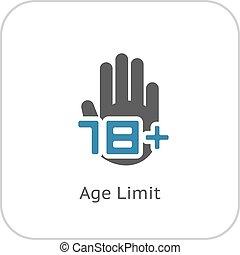 Age Limit Icon. Flat Design.