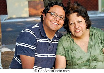 age moyen, mère, et, développé, fils