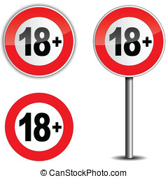 Age restriction sign