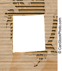 aged and corrugated package paper background