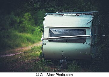 Abandoned Travel Trailer