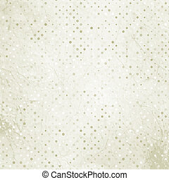 Aged and worn paper with polka dots. EPS 8