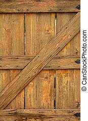 Aged and Worn Wooden Gate