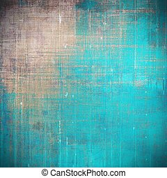 Aged background or texture. Vintage graphic composition with grunge style elements and different color patterns: yellow (beige); brown; blue; gray; cyan