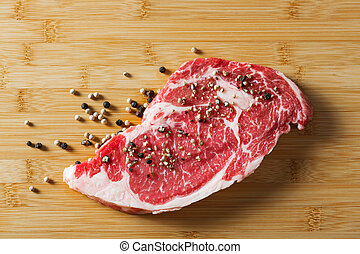 Aged beef ribeye with pepper