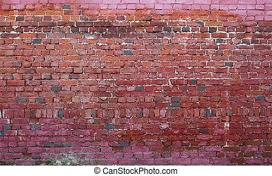 brick wall - aged brick wall