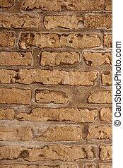 aged bricks brown background wall