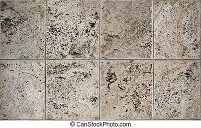 Aged dolomite limestone blocks texture - Aged old weathered...