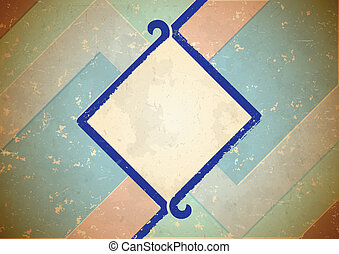 Aged frame with blue border