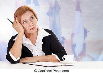aged lady sitting