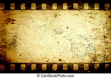 Aged paper background with a photo frame