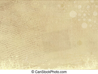 Aged paper background, with stains and manuscripts