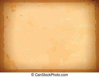 Aged paper frame