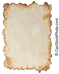 Aged paper - Old paper isolated on white background