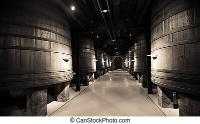 Aged photo of   winery