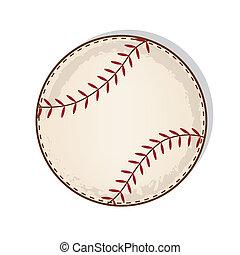 aged vintage baseball vector on a transparent background