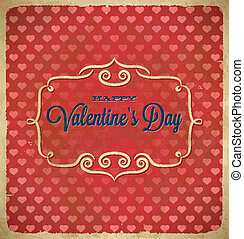 Valentines Day polka dot frame with hearts