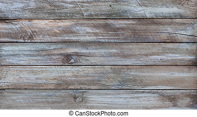 Aged wood boards with paint, background texture structure.