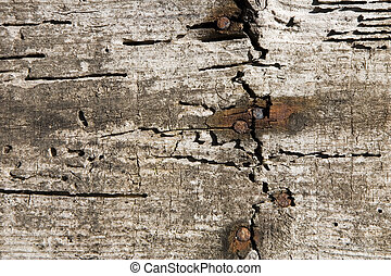 Aged wood wall