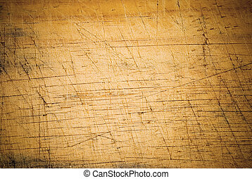 Aged wooden background with cut line